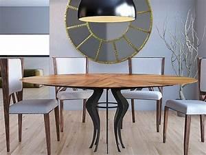 Großer Runder Esstisch : runder tisch aus holz fe kollektion world architects by ~ Watch28wear.com Haus und Dekorationen