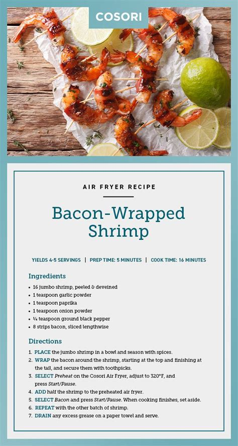 shrimp bacon wrapped air fryer recipe oven recipes toaster