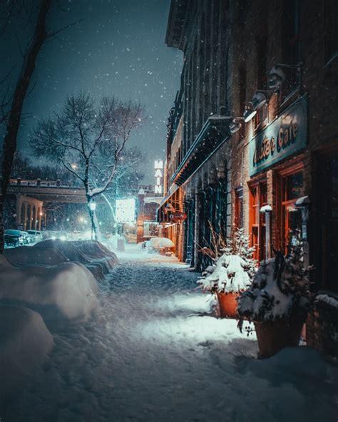 wallpaper winter town urban storm blizzard snow