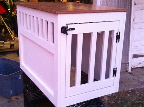 diy wood dog crate  woodworking