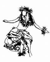 Hula Hawaiian Coloring Pages Dance Drawing Performing Tattoo Lei Island Polynesian Dancing Coloringsky Drawings Aloha Colouring Sheets Tiki Sheet Printable sketch template