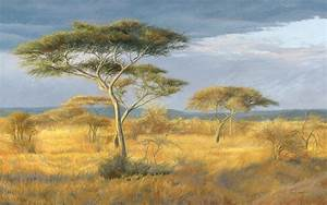 African Landscape Painting by Lucie Bilodeau