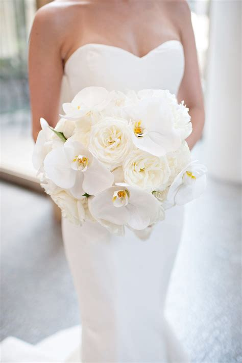 orchid  peony bouquet cascading bouquet white bouquet