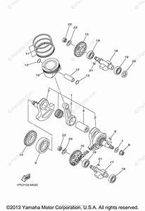 Yamaha Atv 2013 Oem Parts Diagram For Crankshaft Piston