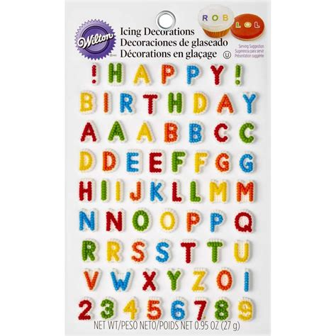 letters numbers edible icing decorations wilton