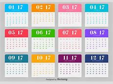 Calendar 2017 Vector Template Download Free Vector Art