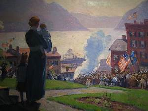 On The Hudson At Newburgh By Gifford Beal