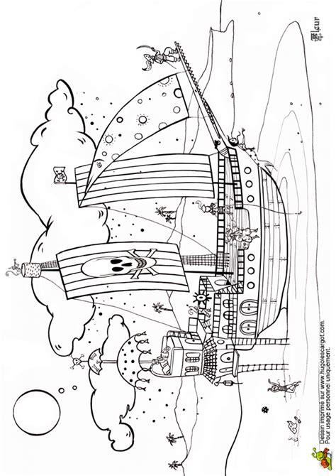 Dessin De Grand Bateau by Coloriage Bateau Des Pirates Sur Hugolescargot