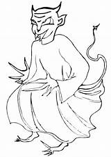 Demon Coloring Pages sketch template