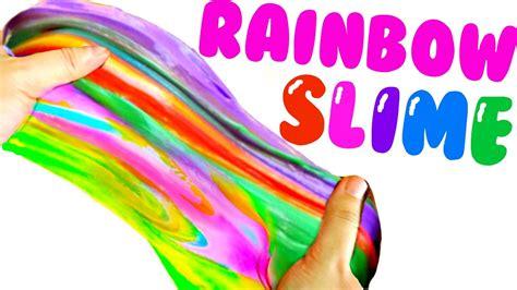 diy rainbow unicorn slime pinterest slime tested youtube