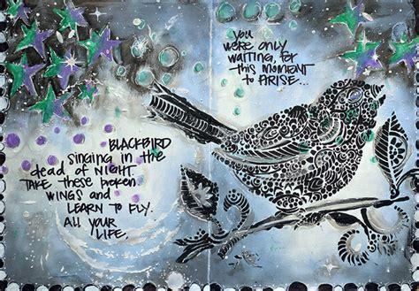 crafters workshop blogblackbird singing art
