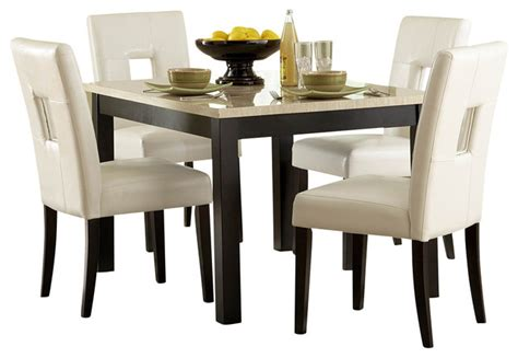 homelegance archstone 48 inch dining table with faux