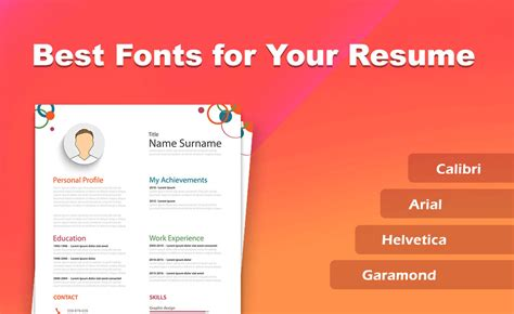 best fonts and size to use your resume 2019 setresume
