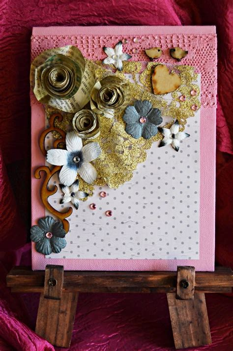 paper rose diy mixed media art allfreepapercraftscom