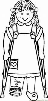 Handicap Coloring Drawing Behinderte Menschen Persone Disegno Getdrawings Printable Coloringpages101 Body Bookmark Permalink Condividi sketch template