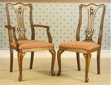 bennetts gola cherry chippendale dining chairs