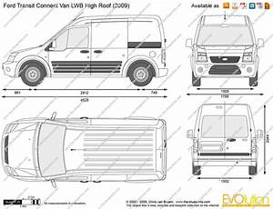 ford transit connect van lwb high roof vector drawing With ford econoline van