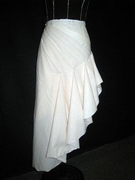 drape definition draping on the stand asymmetric skirt design with fluted