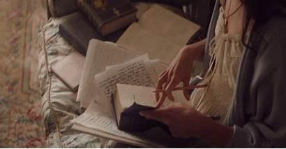 Aesthetic Books Writing Gifs Vikander Alicia Write