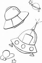Ufo Coloring Pages Space Printable Colouring Template Blank Coloriage Bingo Baby Sheet Getdrawings Drawing Freecoloring sketch template