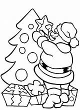 Coloring Christmas Pages Easy Printable Santa Getcolorings sketch template