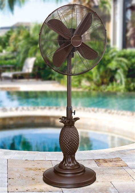 dbf islander outdoor patio fan floor standing