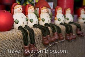 christmas market decorations hexenagger bavaria germany