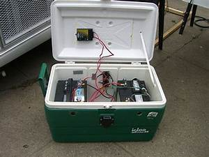 12 Volt Battery Chart Battery Bank In A Cooler With Images Portable Battery