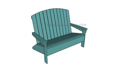 adirondack loveseat plans free outdoor plans diy shed