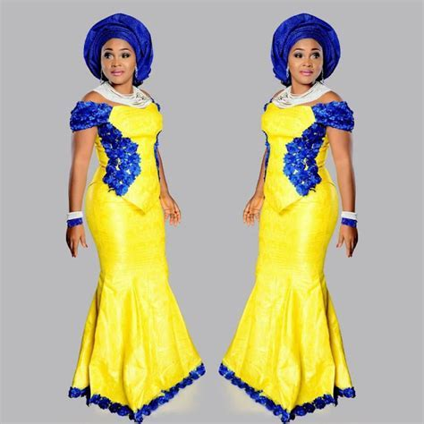 #OOTD: Aso Ebi Style From Mercy Aigbe.   Amillionstyles.com