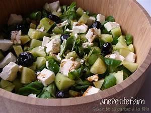 Salade de concombre à la fêta Une petite faim