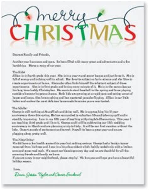 christmas letter ideas newsletters on high quality border paper 20848 | HF5708 234x300