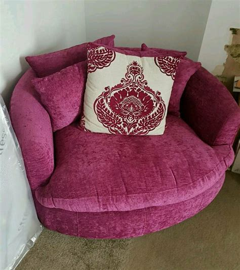 pink cuddle chair swivel chair  sofa  seater