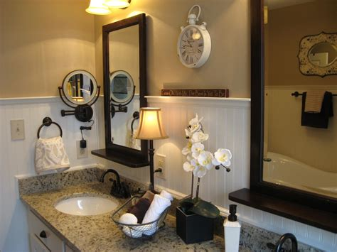 Inspired Lighted Makeup Mirror In Bathroom Modern With