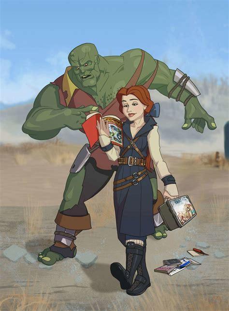 princesas disney ilustradas como personajes de fallout