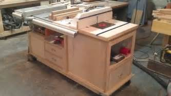 wood magazine table saw cabinet make a featherboard
