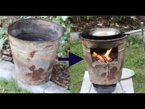 wood stove  outdoor cooking diy recycling youtube
