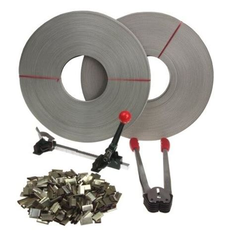 strapping tool complete kit metal seals poly strap banding roll supply set ebay