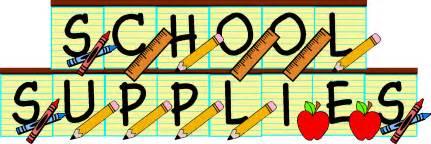 School Supply Clip Art...