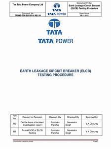 16 Earth Leakage Circuit Breaker  Elcb  Testing Procedure