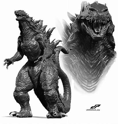Godzilla Hybrid 2000 Artstation Pope Concept Dope