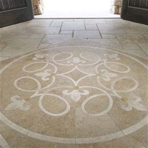 Fleur de lis tile medallion   The next house   Pinterest