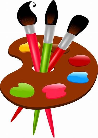 Brush Paint Clip Transparent Clipart Paintbrush Colors