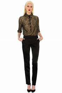 Combinaison Pantalon Femme Habillée : combinaison du soir dentelle noire stefanie renoma ~ Carolinahurricanesstore.com Idées de Décoration