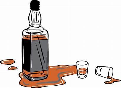 Whiskey Bottle Shot Whisky Glasses Clipart Illustration