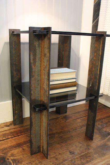 Scrap Metal End Table Industrial, Modern Easy Metal