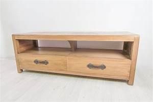 Meuble Tv Manguier : meuble tv 140 en manguier komodo ~ Teatrodelosmanantiales.com Idées de Décoration