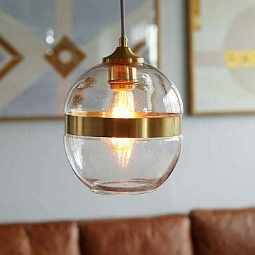 bubble clear glass sphere pendant light hanging lamp