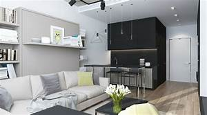 Minibar Für Wohnzimmer : int rieur et design petit espace 61 id es pour la d co appart ~ Orissabook.com Haus und Dekorationen