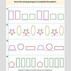 Complete The Missing Pattern Worksheet 3  Turtle Diary